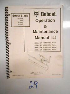 Bobcat Snow Blower Sb150 Operation And Maintenance Manual 36 48 Owner s 11 03