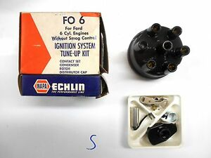 Napa Echlin Distributor Cap Ignition Tune Up Kit Fo 6 Ford 6 Cylinder