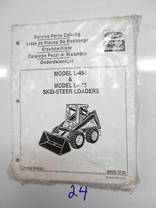 Ford New Holland L 454 L 455 Skid steer Loaders Service Parts Catalog 5045421