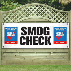 Smog Check Vinyl Banner many Sizes California Business Flags Signs Advertising
