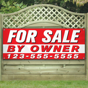 For Sale By Owner Vinyl Banner many Sizes Business Flags Signs House Custom