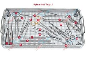 Basic Spinal Instrument Set Of 28 Pieces Of Surgical Neurosurgical Instrument
