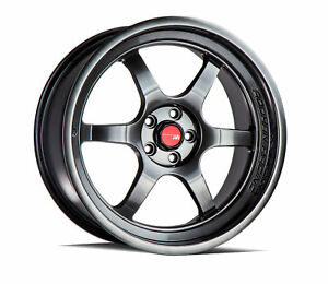 18 Ah08 Hyper Black Wheels For 5x100 18x8 5 Et35 Set Of 4
