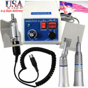 Dental Marathon Micro Motor 35k Rpm N3 straight Handpiece contra Angle support