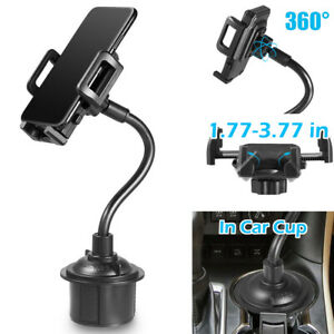 Universal 360 Adjustable Car Mount Gooseneck Cup Holder Cradle For Cell Phones