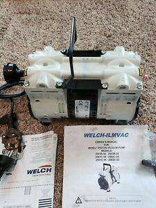 Welch Vacuum Pump 2563c 24 Wob l Dry Pump Single phase 230vac 60hz