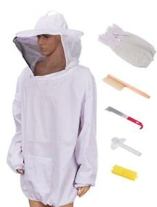 Beekeeping Jacket With Veil Beekeeper Jacket And Veil With Gloves Large
