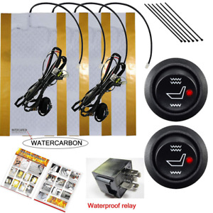 Watercarbon Water Carbon 12v Premium Heated Seat Kits For Two Seats Universal E