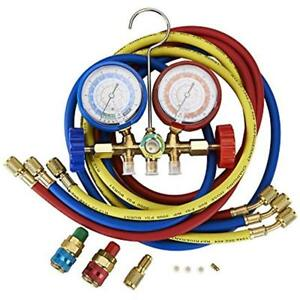 Orionmotortech Refrigerant Recovery Tools 5ft Ac Diagnostic Manifold Freon Gauge