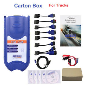 Diesel Heavy Duty Truck Scanner Diagnostic Tool Usb Link 1 Interface Software