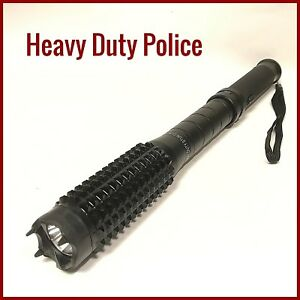 Police Stun Gun Metal Heavy Duty Max Volts Max Amps Rechargeable Led Flashlight
