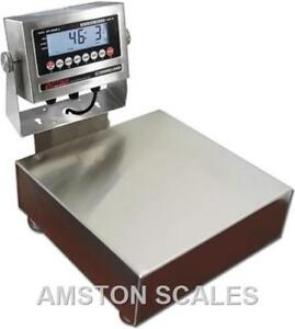 60 X 0 002 Lb Digital Bench Scale 10x10 Washdown Waterproof Seafood High Quality