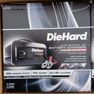 Diehard 50a Auto Detects 12v Battery Charger Engine Starter 71323 New