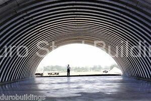 Durospan Steel 60x100x20 Metal Arch Quonset Custom Building Kit Open Ends Direct