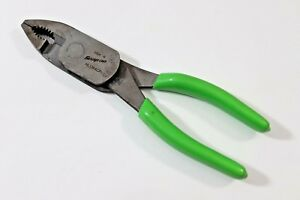Snap On 8 High Leverage 2 Position Pliers With Wire Cutter Hl138acp Green
