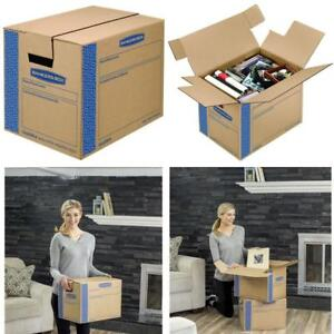 Bankers Box Smoothmove Moving Boxes Tape free Fastfold Easy Assembly Handles