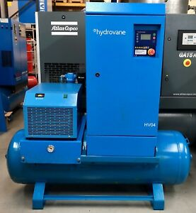 Hydrovane Hv04 Receiver Mounted Rotary Vane Compressor With Dryer Low Hours