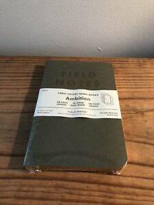 Field Notes Ambition Gilded Memo Books Sealed Brand New