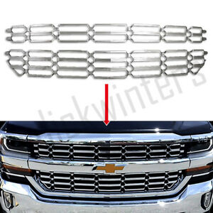 Fits 2016 2018 Chevy Silverado 1500 Chrome Grille Overlay Snap On