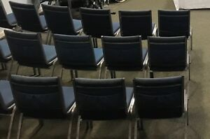 60 Fabric Stackable Connecting Chairs For Church Office Or Restaurant