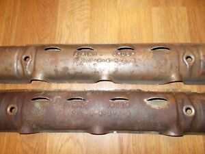 Nailhead Engine Spark Plug Covers Oem Original Vintage Buick 53 56 Part