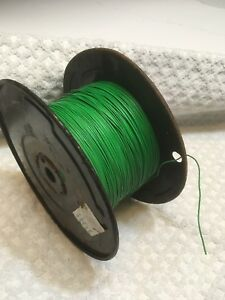 22 Awg Gauge Solid Strand Hook Up Wire Green 3000 Ft Feet Spool Tinned Copper