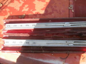 1967 1968 Thunderbird Emblems Moldings Off Tail Lamps Rear Panel