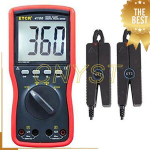 Double Clamp Digital Phase Meter Tester Gauge With Measurement Range 0 To 360