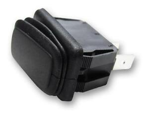 2pk Rectangle Rocker Switch Black 3p Spdt On off on 25a 14vdc
