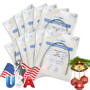Usa 100 Packs Dental Orthodontic Super Elastic Niti Arch Wire round 014 Upper