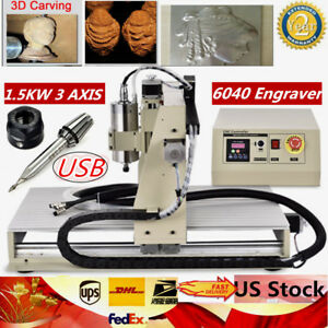 1 5w Usb 3 Axis 6040 Router Engraver Carcing Milling Machine Engraving Cnc Ups