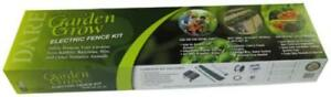 Garden Electric Fence Kit Safely Keeps Rabbits Raccoons Pets And Other A