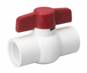 10pc 1 2 White Pvc Schedule 40 Solvent Ball Valve Nsf Approved