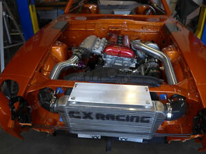 Cx Intercooler Kit Turbo Intake For 240z 260z 280z Sr20det Top Mount Turbo