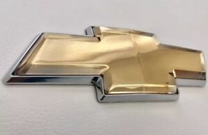2006 2013 Chevy Impala Monte Carlo Front Or Rear Grill Bowtie Emblem Gold Oem