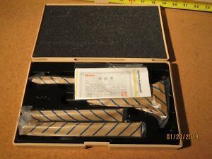 Mitutoyo 0 4 Inch Depth Micrometer Set No 129 127 W Case 2 5 Base Brand New
