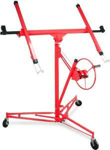 Red Drywall Lift 11 15 Lift Panel Hoist Dry Wall Jack Lifter Construction Tool