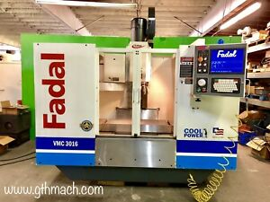 2005 Fadal Vmc 3016 Cnc Machining Center Rigid Tapping 10 000 Rpm Spindle