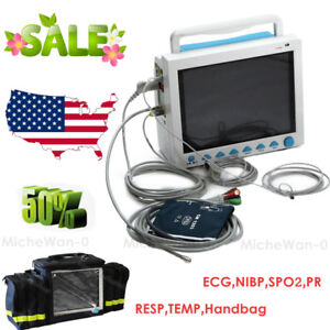 Portable Icu Vital Signs Multi parameter Patient Monitor Handbag Usa Fedex