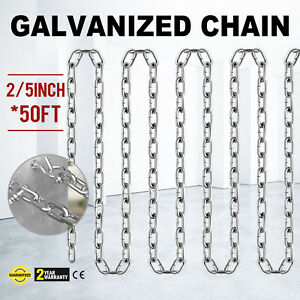 Grade 30 Chain Zinc Plated 2 5 50ft Logging Anti corrosion Proof Coil Chain