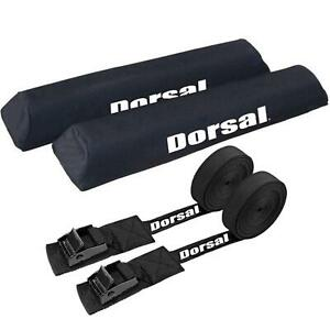 Dorsal Aero Roof Rack Pads 20 Inch And 15 Ft Straps For Car Surfboard Kayak Sup