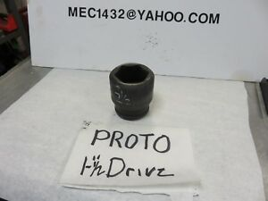 Proto Professional 6 point Impact Socket Sae 1 1 2 Drive 2 1 2 Snap on