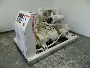 50hp Gardner Denver Rotary Screw Air Compressor Model Ebhqjc 200 Cfm 125 Psig