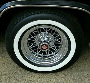 4 P225 70r 15 Inch White Wall Tires 1 3 Ww Band Thick Fat Wide Gangster New