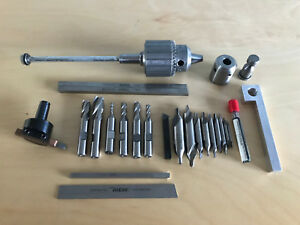 Assorted Sherline Cutting Tools Holders Blanks And Parts