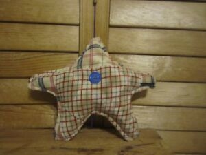 Primitive Americana Quilted Star Barn Red White Blue 21a