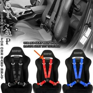 Fit Us car 4 Point Racing Safety Harness Camlock 2 Inch Strap Seat Belt Red