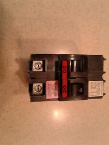 Federal Pacific 20 Amp 2 Pole Circuit Breaker Type Hacr