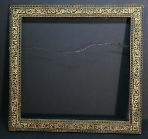 Beautiful Large Antique 1800 S Embossed Border French Frame 22 3 4 X 21 1 2