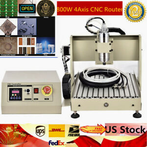 Us 800w Four 4 Axis Cnc Router Engraver Milling Machine Engraving Cutting 3040
